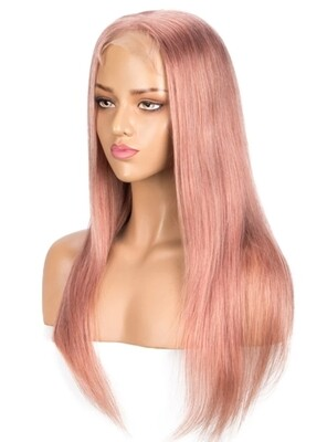 Soft Pink Human Hair Lace Front