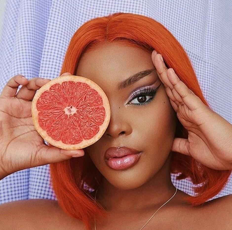 Orange Human Hair Lace Front Bob