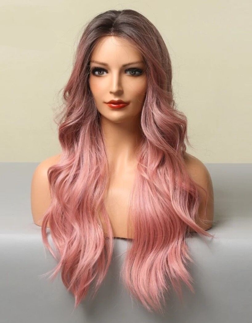 Dusty Pink Ombre Body Wave Lace Front