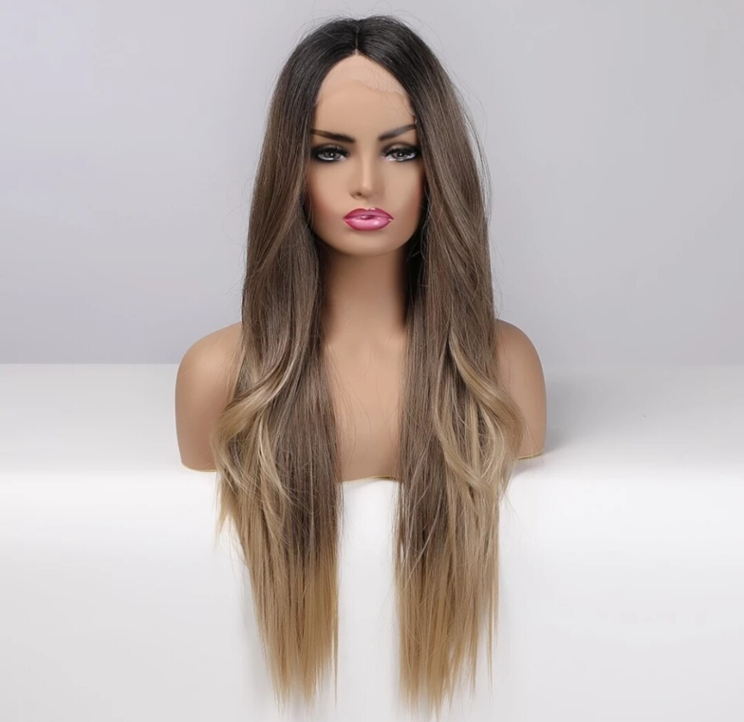 Brown Balayage Dark Roots Lace Front