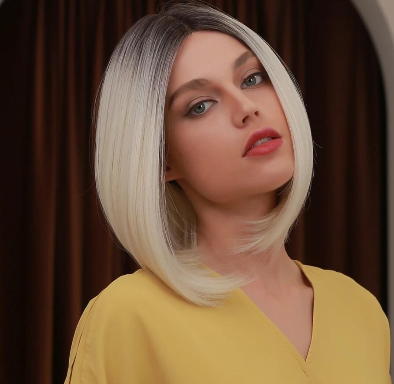 Platinum Blonde Lace Front Bob