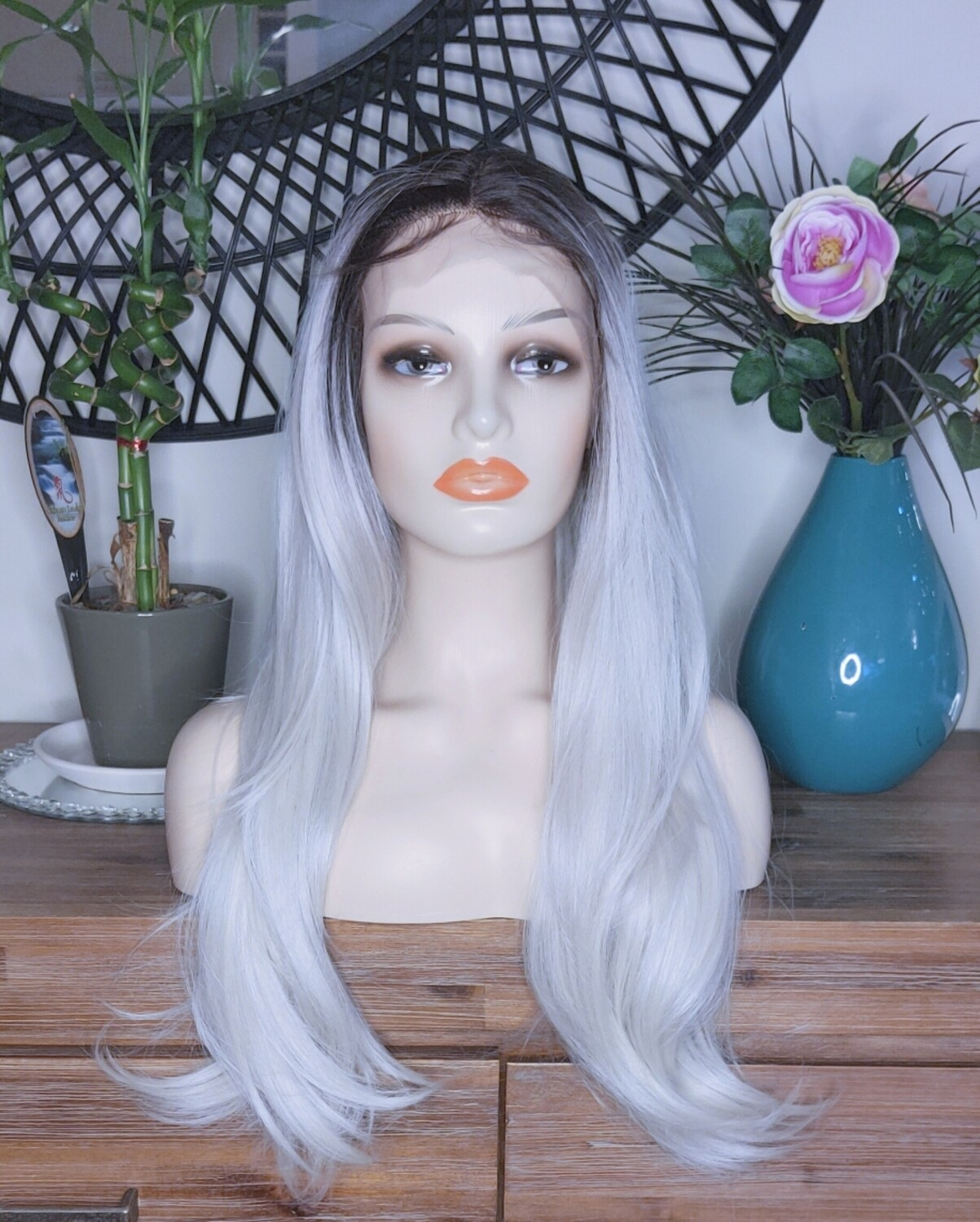White Blonde Ombre Lace Front