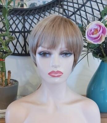 Ash Blonde Ombre Pixie Cut