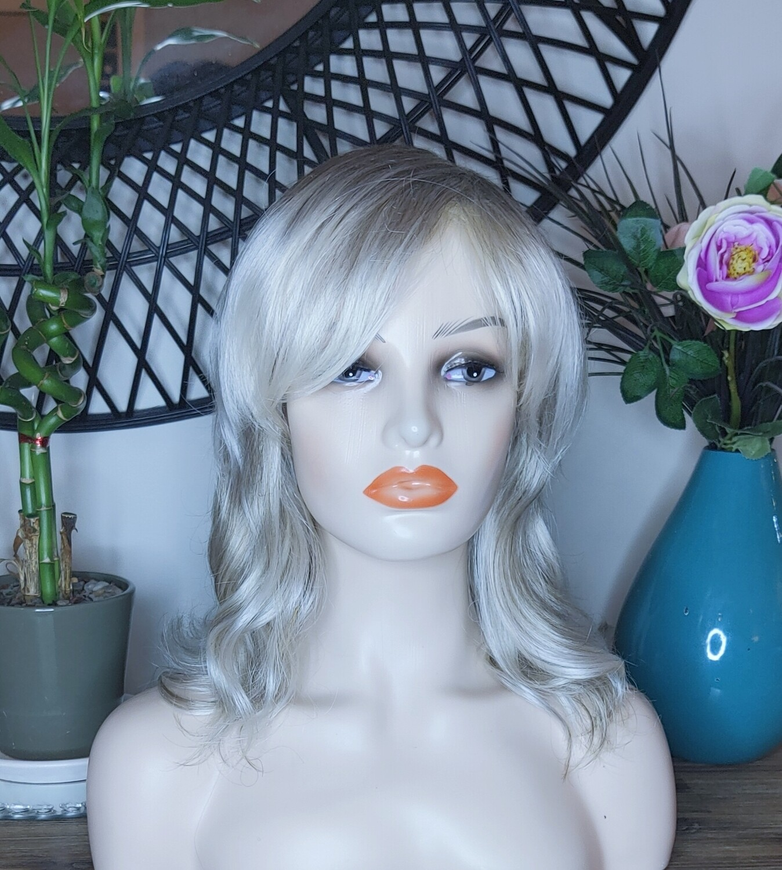 Platinum Blonde Soft Wave Human Hair Blend