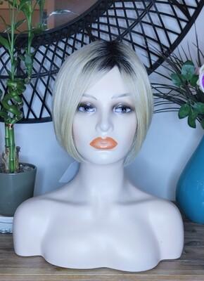 Light Blonde Ombre Human Hair Blend Bob