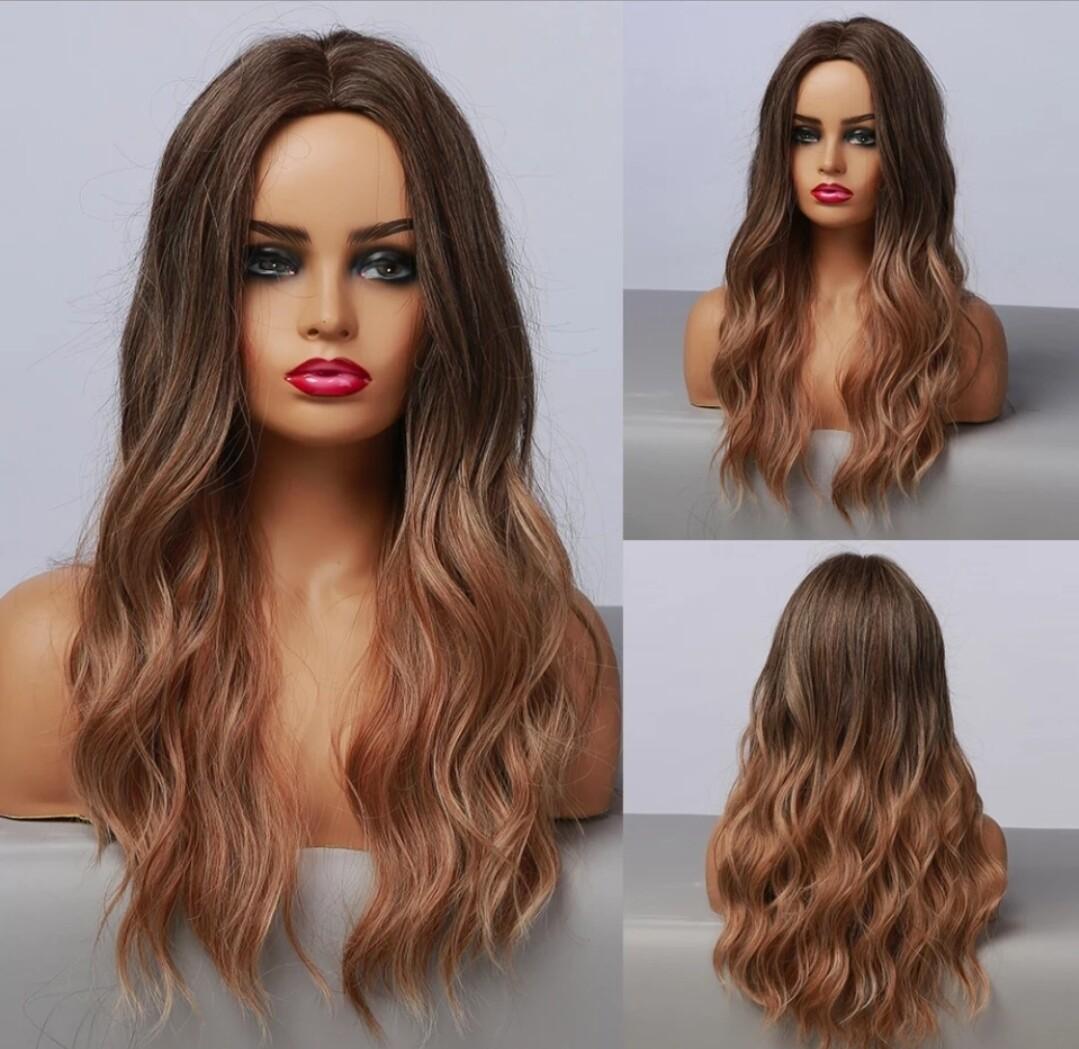 Light Brown to Dark Blonde Balayage Beachy Wave