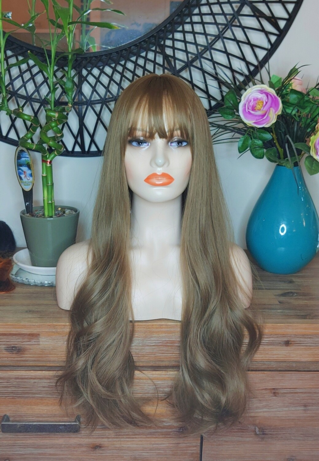 Dirty Brown Soft Wave with Fringe