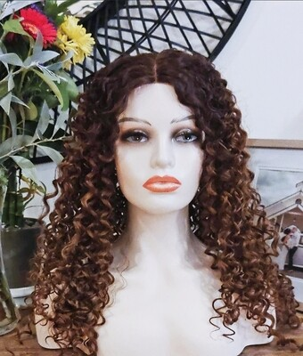 Honey Brown Ombre Kinky Curly Lace Front