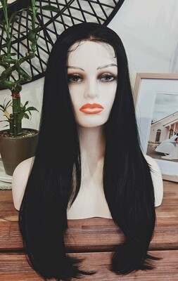 Dark Black Layered Free Part Lace Front