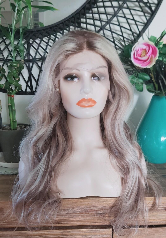Platinum Blonde Mix Light Brown Human Hair Body Wave