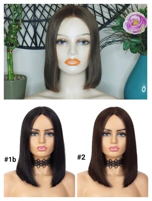 Human Hair Centre Part Lace Front Bobs