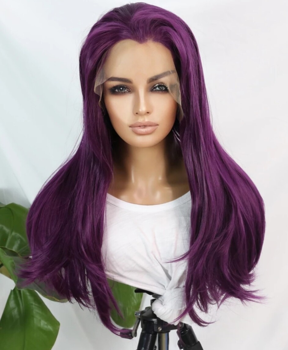 Purple Lace Front Thick Density