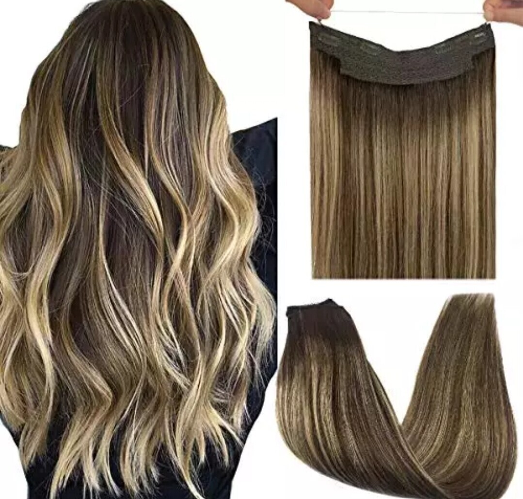 """Halo Extensions Human Remy Hair Straight 18"""""""