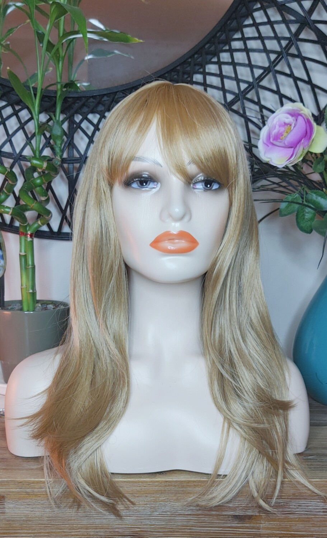 Ginger Blonde Layered with Fringe