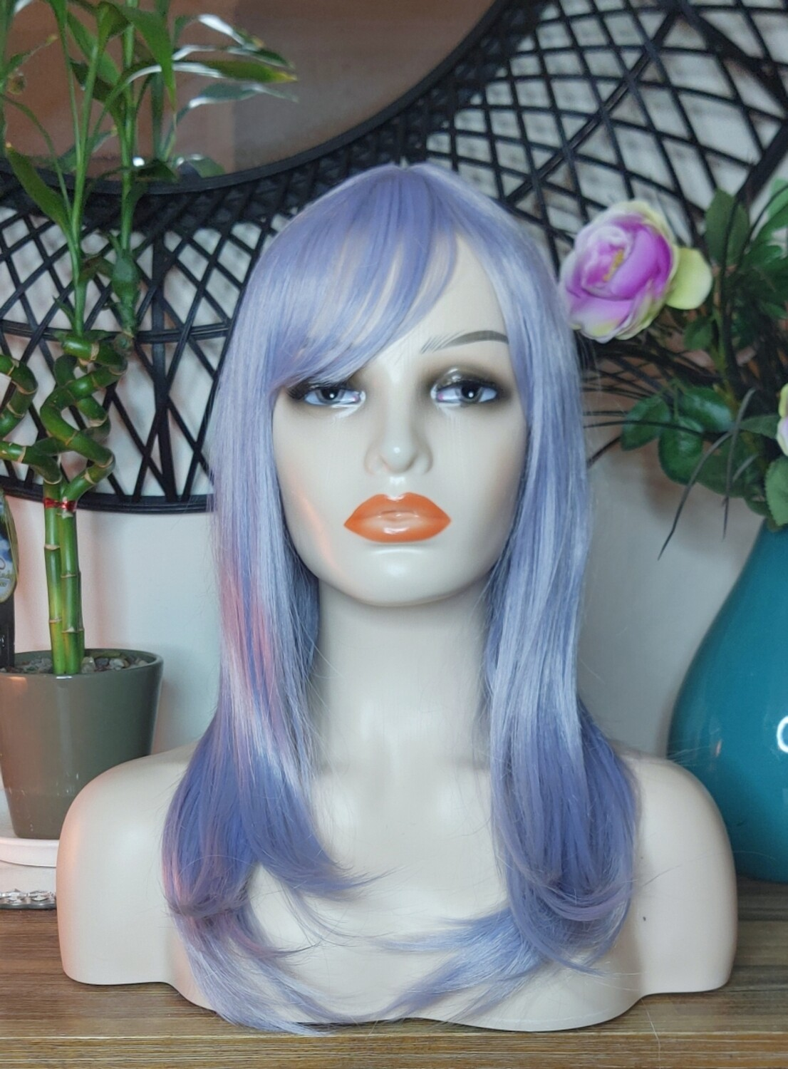 Lilac Blue Layered with Fringe