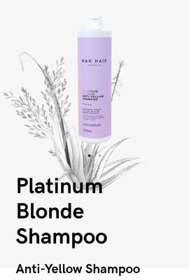 Nak Hair Platinum Blonde Shampoo - Anti Yellow 150mL