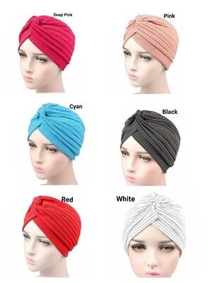 Striped Print Turban Cap