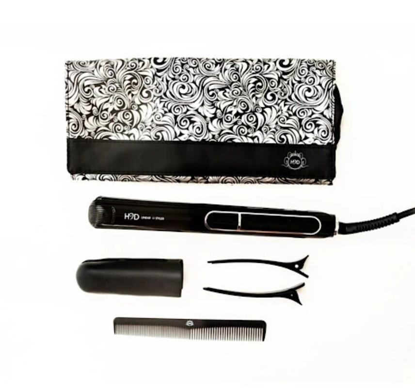 H2D Linear II Professional Hair Straightener in Rose Gold (Limited Edition) & Gloss Black