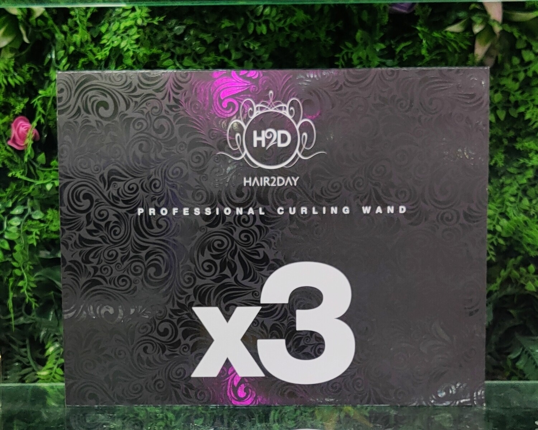 H2D Black x3 Professional Curling Wand