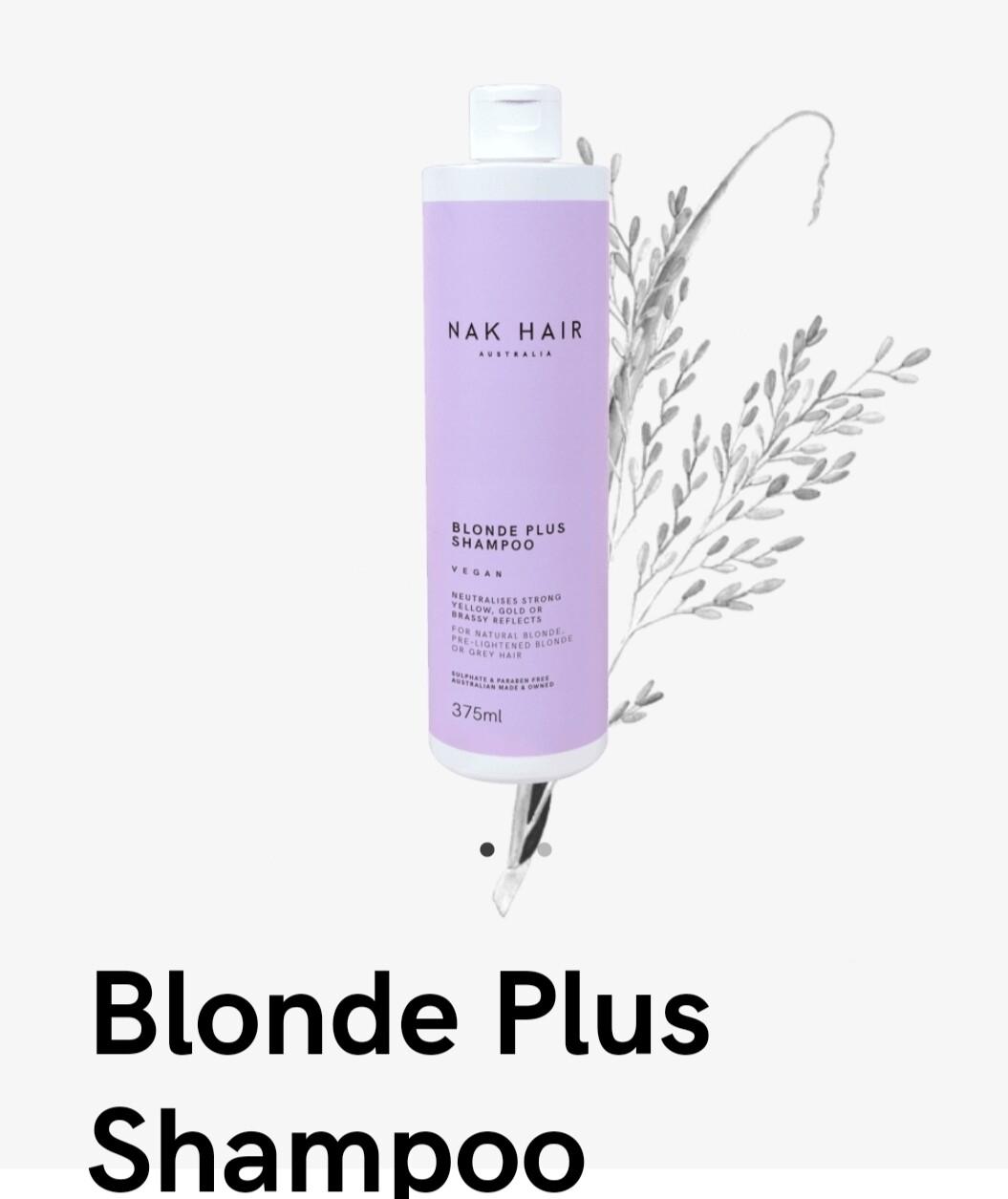 Nak Hair Blonde Plus Shampoo 375mL
