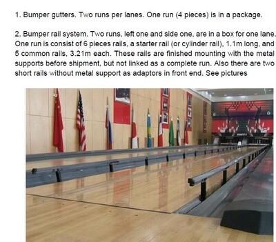 Бампера для дорожек/ Bumper gutter