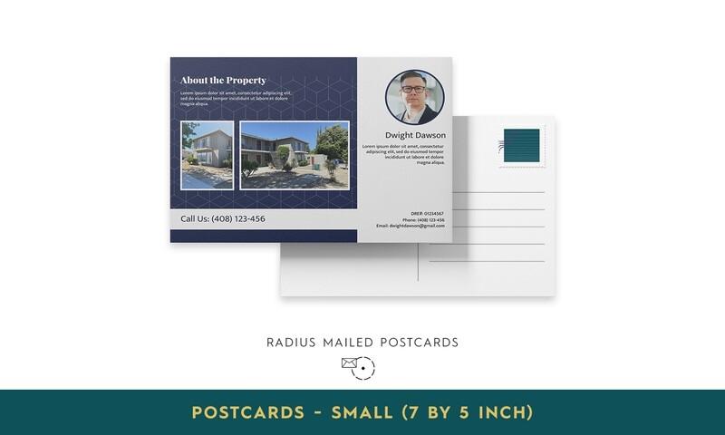 Radius Mailed Postcards - Small