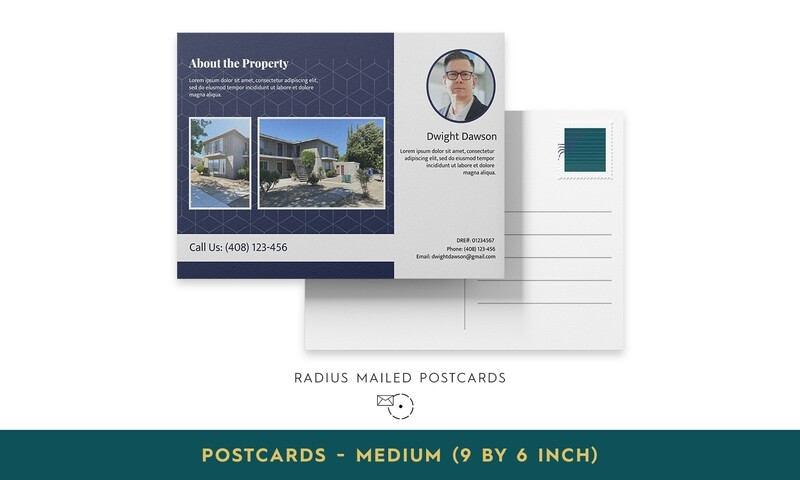 Radius Mailed Postcards - Medium