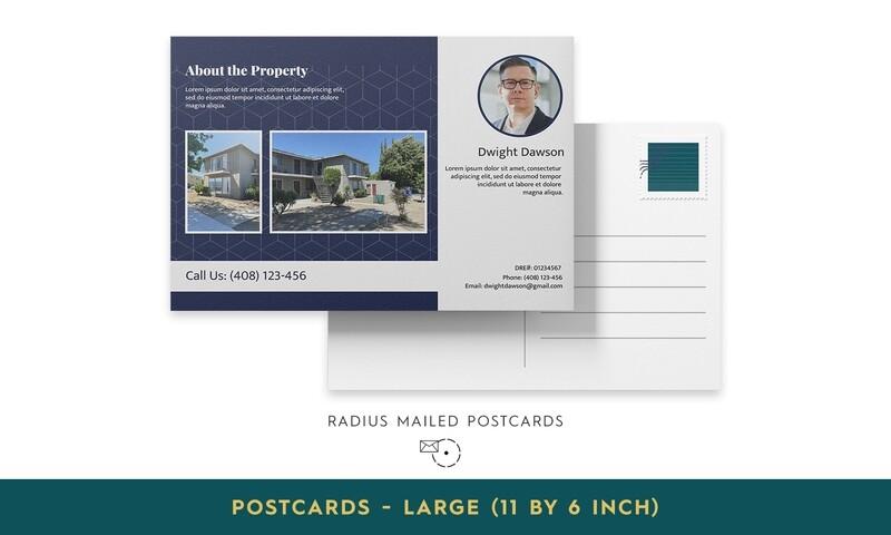 Radius Mailed Postcards - Large
