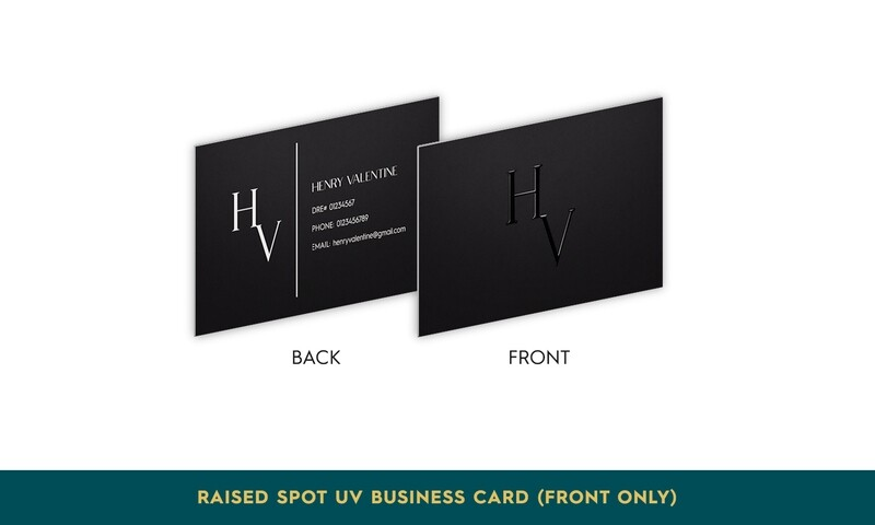 Raised Spot UV Business Card (Front Side Only)