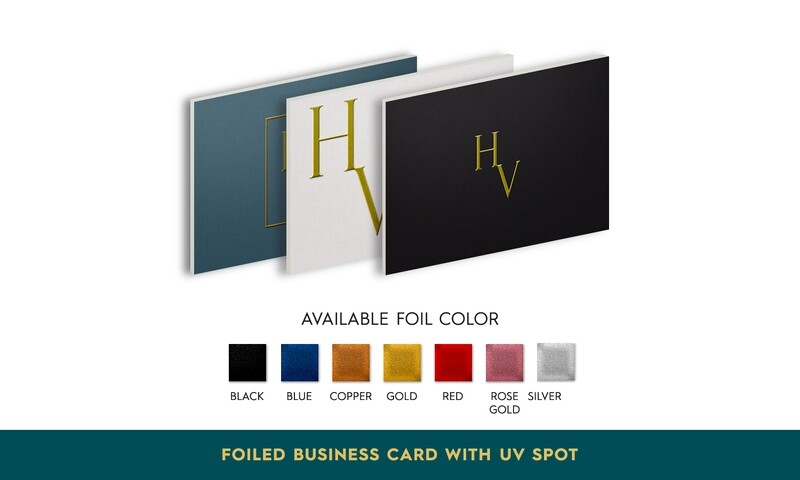 Foiled Business Card with Spot UV