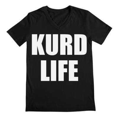 """""""KURD LIFE"""" Men's V Neck T-Shirt"""