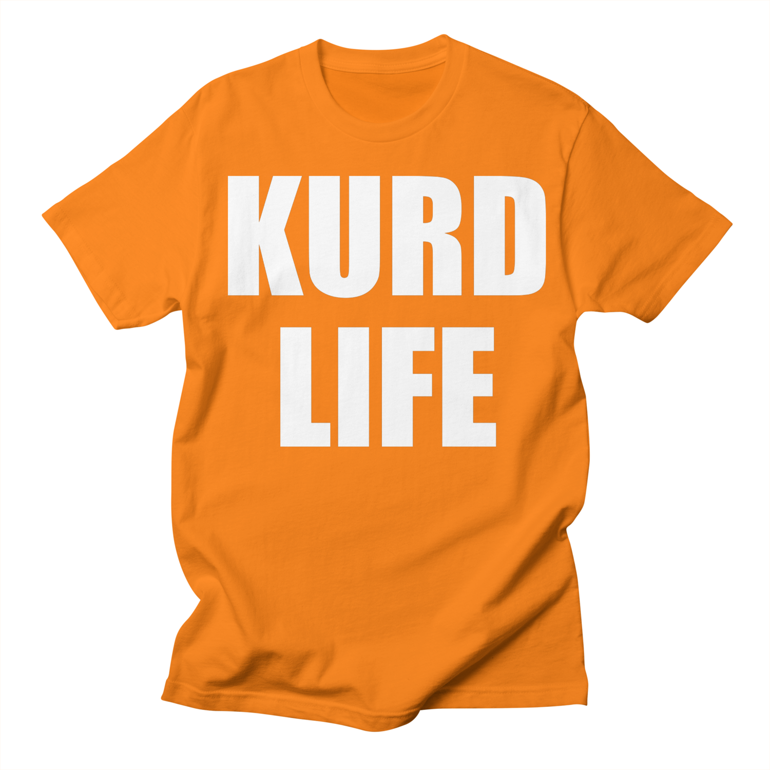 """KURD LIFE"" Men's Crew Neck T-Shirt"