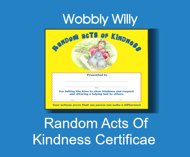 Random Acts of Kindness Certificate & Pledge
