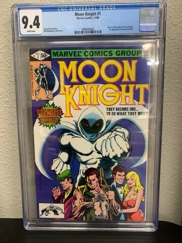 Moonknight #1 9.4 Rated CGC Comic