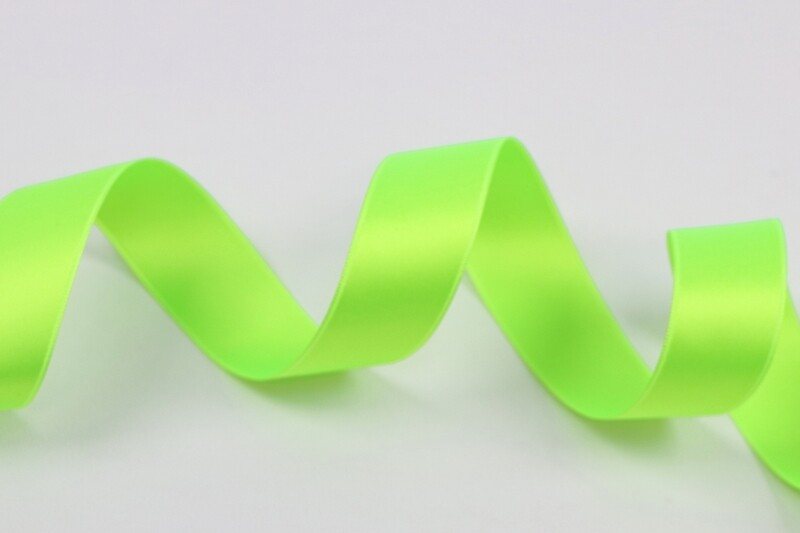 """Satin Double Face """"Neon Green"""""""