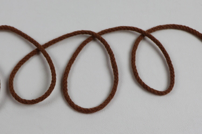 Baumwollkordel rotbraun 3mm