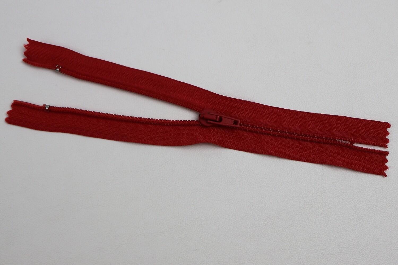 Spiralreissverschluss nicht teilbar rot