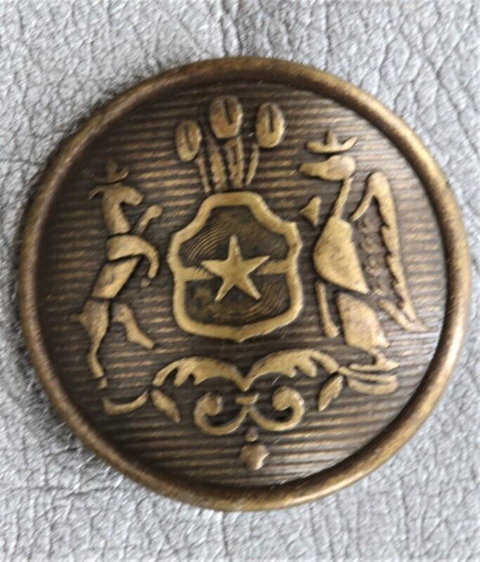 Knopf Wappen Hirsch