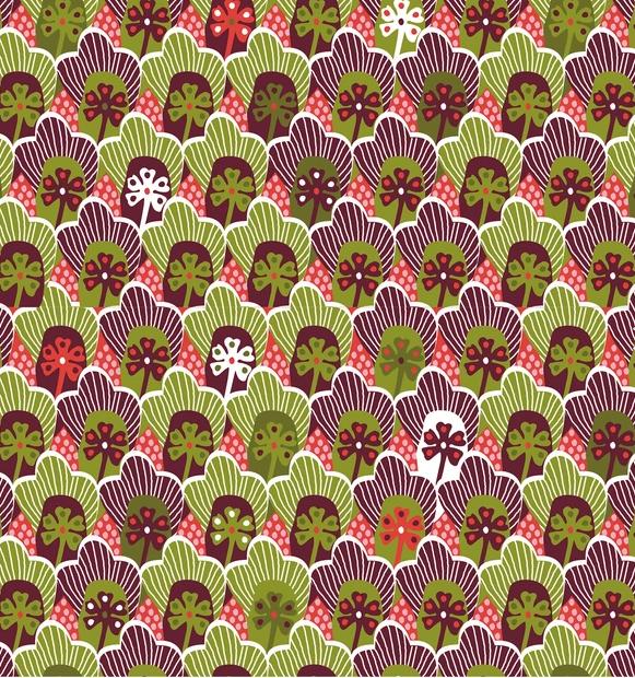 Popeline Blumen retro