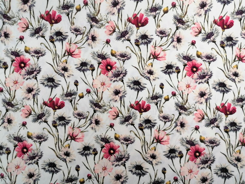 Viscose-Jersey Blumen