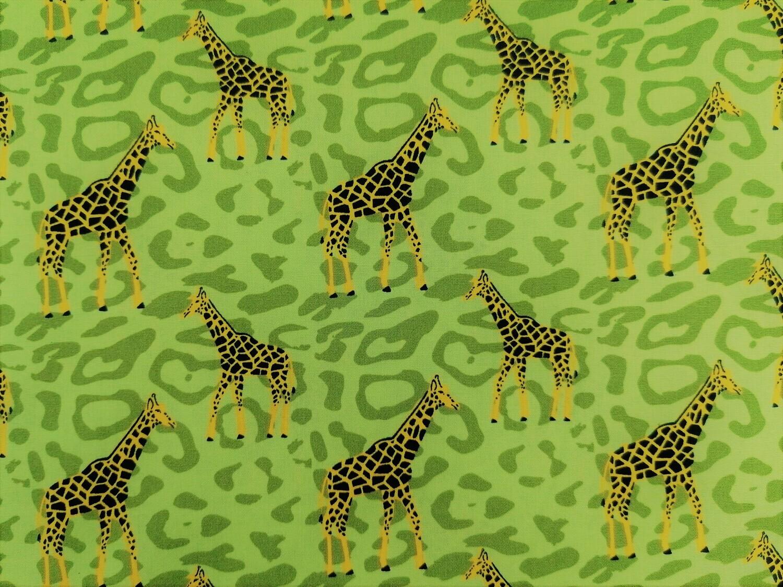 Popeline Giraffe grün