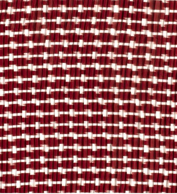 "Chiffon-Plissée ""Stripes"" steinrot"
