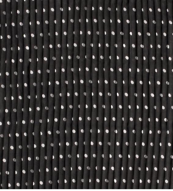 Chiffon-Plissée Punkte schwarz