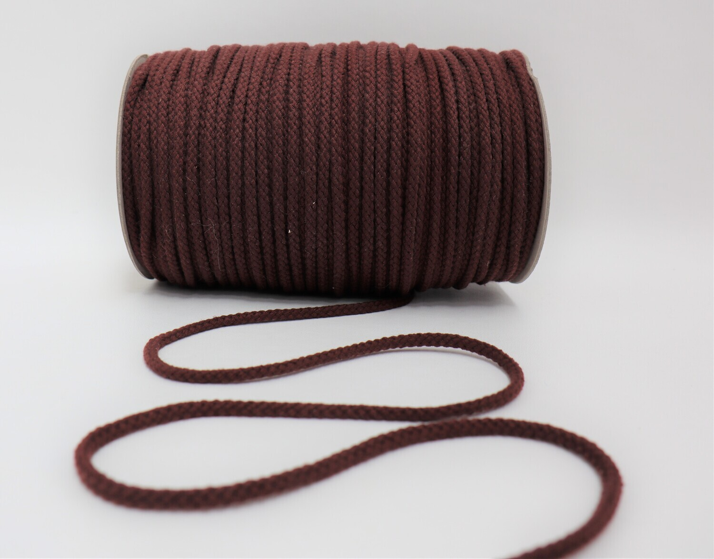 Baumwollkordel rotbraun 5mm
