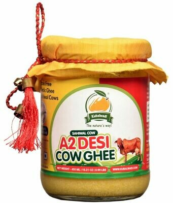 Vedic Bilona Hand Churned A2 Desi Cow Ghee - 450ml