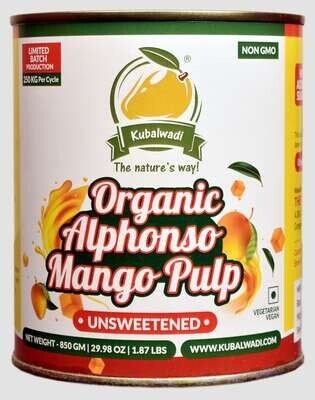 100% Organic Alphonso Mango Pulp