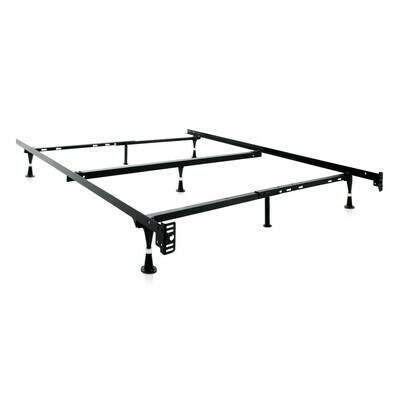 Malouf Twin/Full/Queen Bed Frame with Rollers or Glides