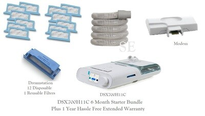 Respironics DreamStation Bipap DSX700H11C  - 6 Months Starter Bundle W/ Mask Kit Included.       Your Choice - 1 of 5  Mask Kits