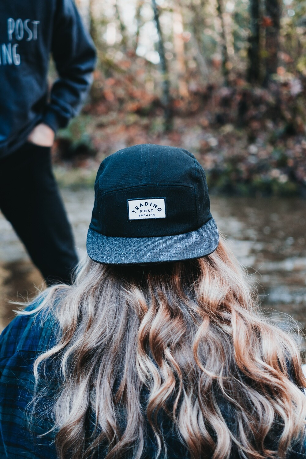 Black Denim Brim Hat