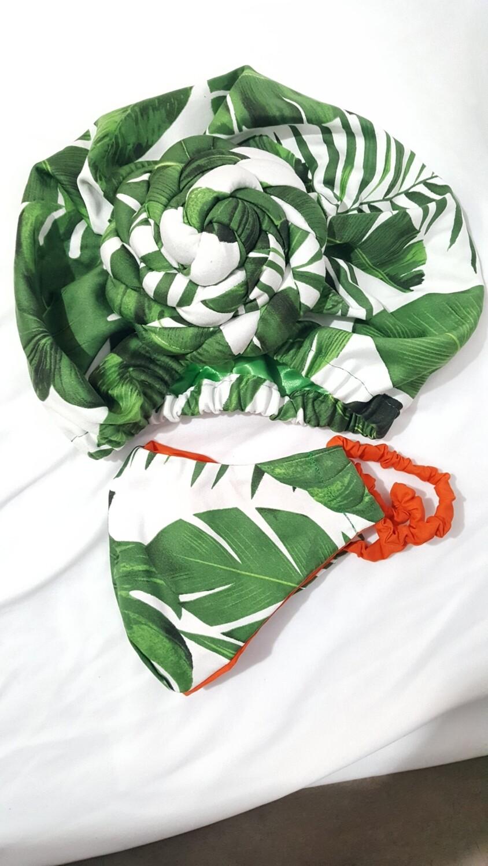 Resort Green AfroBonnet Set